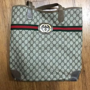Vintage Gucci shopper/magazine tote bag